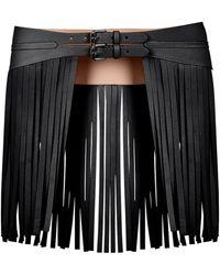 9b48c7a174 Bcbgmaxazria Cutout Faux-leather Corset Waist Belt in Black - Lyst