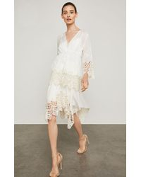 BCBGMAXAZRIA - Bcbg Floral Embroidered Handkerchief Skirt - Lyst