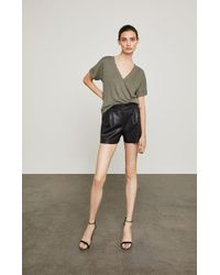 BCBGMAXAZRIA - Symon Faux-leather Short - Lyst