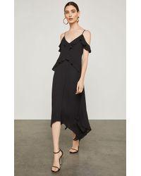 BCBGMAXAZRIA - Bcbg Lissa Asymmetrical Slip Dress - Lyst