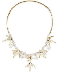 BCBGMAXAZRIA - Stone Floral Necklace - Lyst