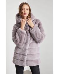 BCBGMAXAZRIA - Felicia Faux Fur Hooded Coat - Lyst