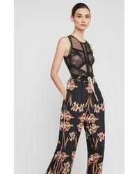 BCBGMAXAZRIA - Bcbg Sleeveless Floral Lace Bodysuit - Lyst