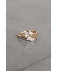 BCBGMAXAZRIA Bcbg Crystal Leaf Ring - Metallic