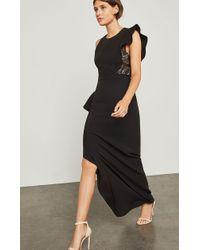 BCBGMAXAZRIA - Marcelle Asymmetrical Ruffle Gown - Lyst