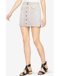 BCBGMAXAZRIA - Bcbg Mora Faux-suede Miniskirt - Lyst