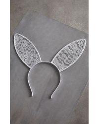 BCBGMAXAZRIA - Bcbg Lace Bunny Headband - Lyst