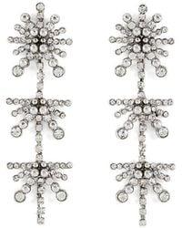 BCBGMAXAZRIA - Starburst Stone Earring - Lyst