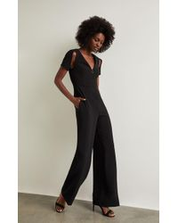 ecad8c086226 Lyst - Bcbgmaxazria Liisa Cropped Jumpsuit in Black