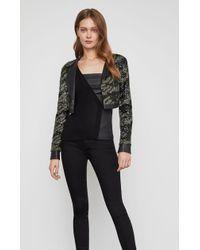 BCBGMAXAZRIA - Bcbg Camo Sequin Crop Jacket - Lyst