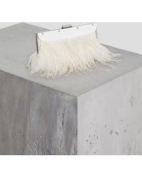 BCBGMAXAZRIA - Bcbg Catarina Feather-trimmed Clutch - Lyst