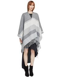 BCBGMAXAZRIA - Color-blocked Ruana Poncho - Lyst