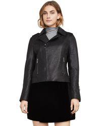 BCBGMAXAZRIA - Bcbg Chase Leather Moto Jacket - Lyst