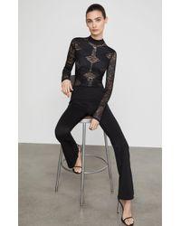 BCBGMAXAZRIA - Bcbg Elshane Lace-trimmed Jumpsuit - Lyst
