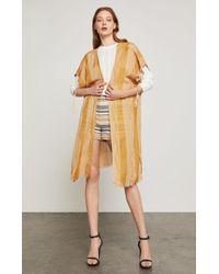 BCBGMAXAZRIA - Bcbg Striped Cotton Drawstring Wrap - Lyst