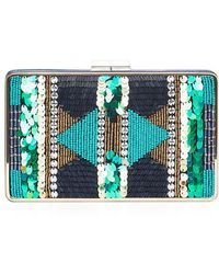 BCBGMAXAZRIA - Sonia Beaded Sequined Clutch - Lyst