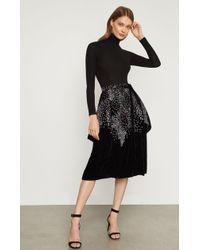 BCBGMAXAZRIA - Bcbg Embroidered Velvet Wrap Skirt - Lyst