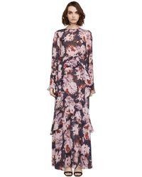BCBGMAXAZRIA - Margot Watercolor Mums Gown - Lyst