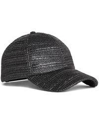 BCBGMAXAZRIA - Natural Texture Baseball Cap - Lyst
