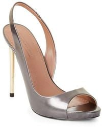 BCBGMAXAZRIA - Prue Metallic Leather Pumps - Lyst