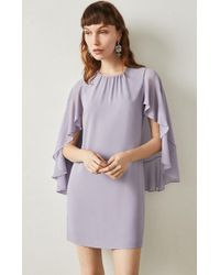 BCBGMAXAZRIA - Bcbg Cape Sleeve A-line Dress - Lyst