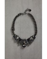 BCBGMAXAZRIA Bcbg Geometric Stone Necklace - Black