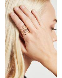 BCBGeneration - Floral Star Coil Ring - Lyst