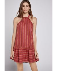 BCBGeneration - Double-striped A-line Halter Dress - Lyst
