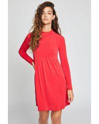 BCBGeneration - Mock Neck A-line Dress - Lyst