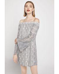 BCBGeneration - Off-the-shoulder Lace Tent Dress - Lyst
