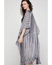 BCBGeneration Striped Fringe Kimono Scarf