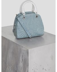BCBGeneration - Erikson Faux Denim Satchel - Lyst