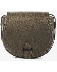 BCBGeneration | Crackled Faux-leather Saddle Bag | Lyst