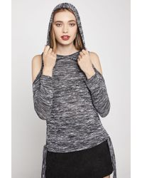 BCBGeneration - Space-dyed Cold-shoulder Hoodie - Lyst