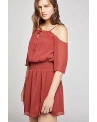 BCBGeneration - Cold-shoulder Shirred Dress - Lyst