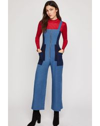 BCBGeneration - Cropped Chambray Jumpsuit - Lyst