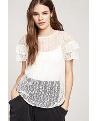 BCBGeneration - Flyaway-back Lace Top - Lyst