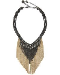 BCBGeneration - Stone And Chain Detail Twofer Necklace - Lyst