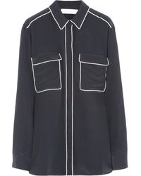 Stella McCartney Embroidered Silk Crepe De Chine Shirt - Lyst