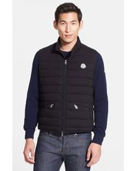 Moncler 'Gerard' Quilted Cotton Vest black - Lyst