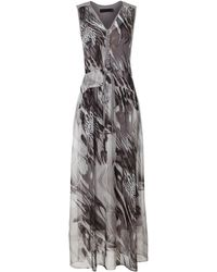 Marna Ro Silk Dixie Dress gray - Lyst