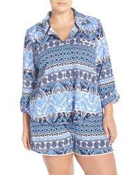 Lucky Brand | Print Cotton Pajamas | Lyst