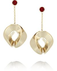Etro - Gold-plated Crystal Earrings - Lyst