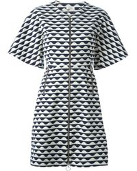 Issa 'Jasmine' Patterned Front Zip Dress - Lyst