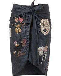 Isabel Marant Issop Embroidered Wraparound Skirt - Lyst