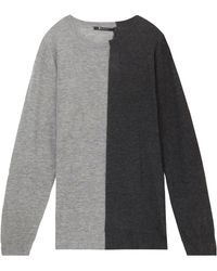 T By Alexander Wang Light Weight Two Tone Sweater - Lyst
