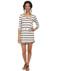 Chaser Drape Back Shirttail Dress - Lyst