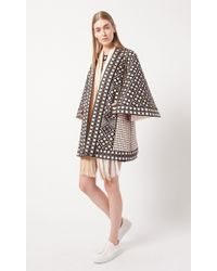 Temperley London Portofino Quilted Swing Coat brown - Lyst