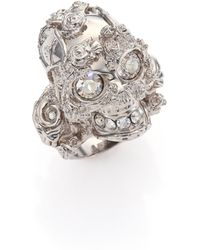 Alexander McQueen Forest Skull Ring/Silvertone silver - Lyst