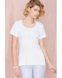 Nasty Gal Asilio Only Half There Sweater Top - Lyst